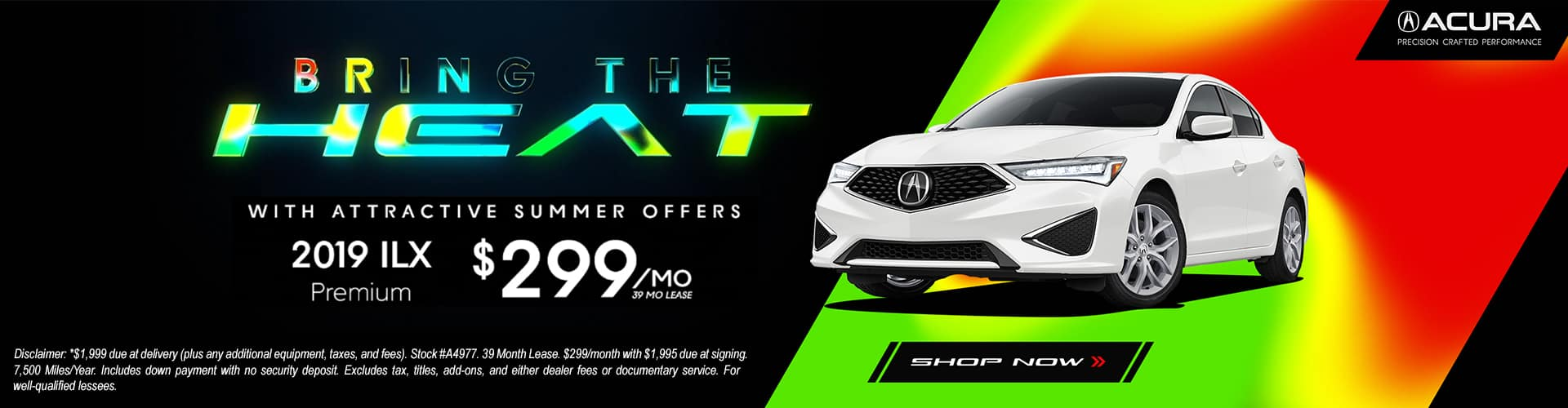 2019 ILX Premium Lease for $299 per Month