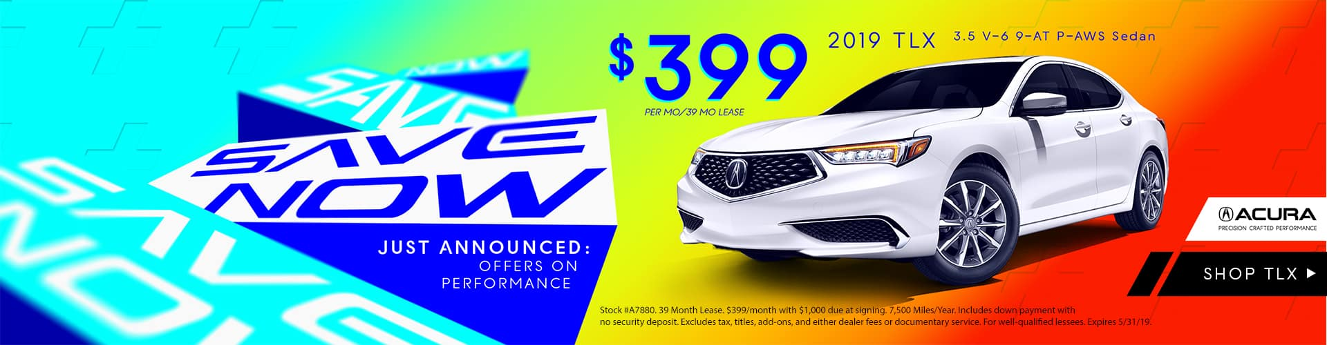 2019 TLX Lease $399 per Month