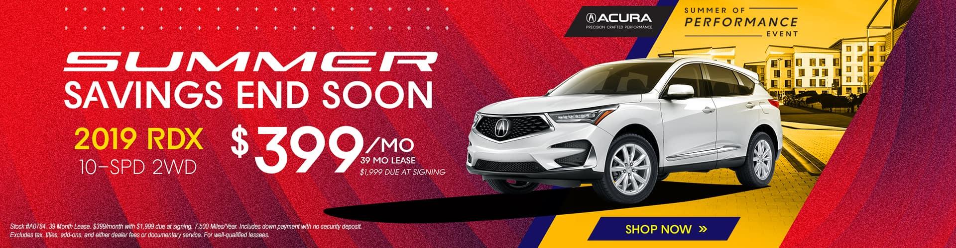 2019 Acura RDX $399 Lease