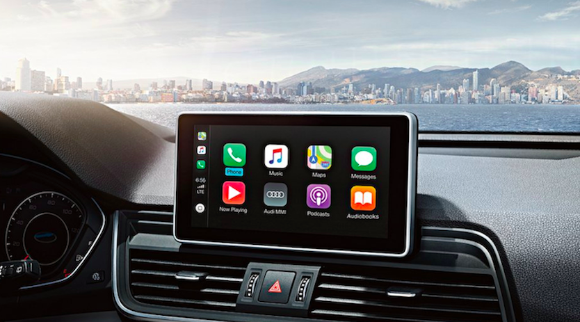 Apple CarPlay Interface in Acura