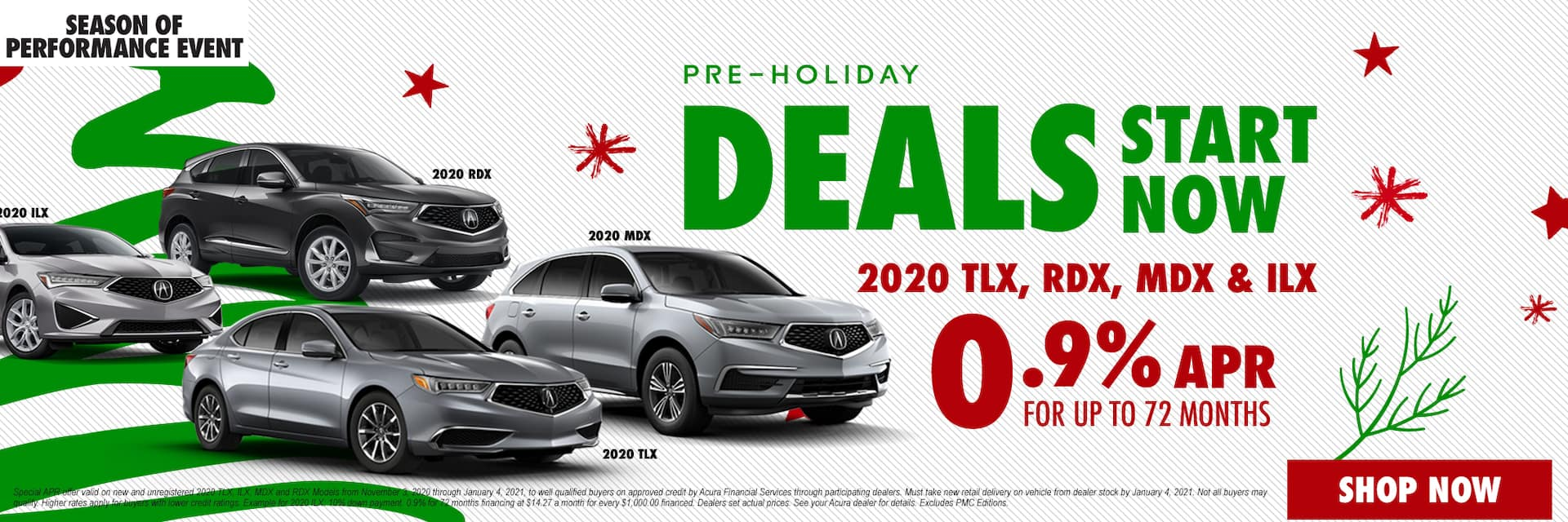 Acura multi-models holiday deals