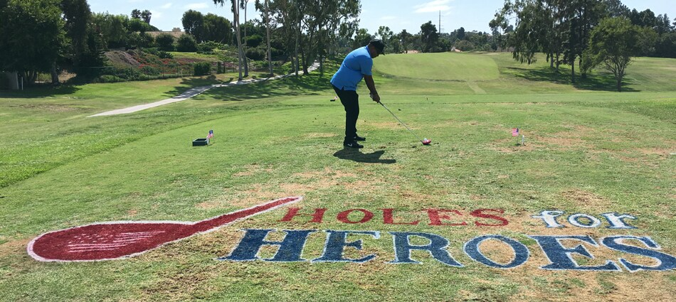 Golfer sets to swing on Holes for Heroes event