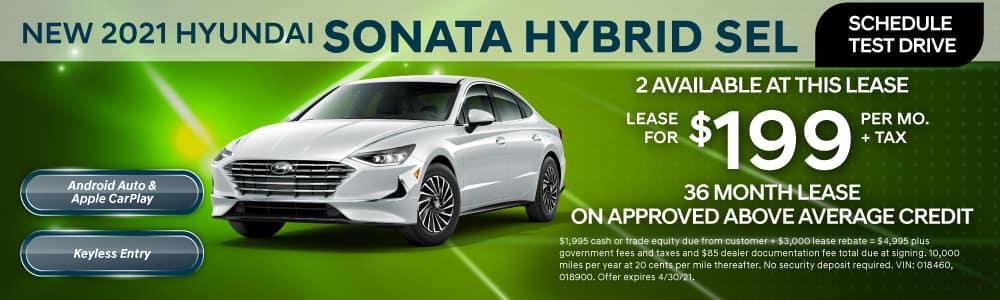 New 2021 Hyundai Sonata Hybrid Lease