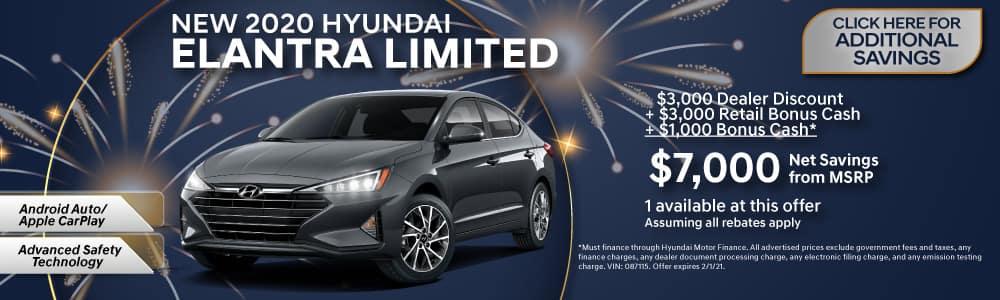 New 2020 Hyundai Elantra Limited