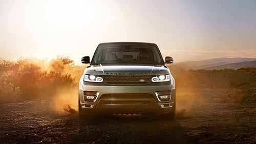 Land Rover Range Rover Sport driving front end view