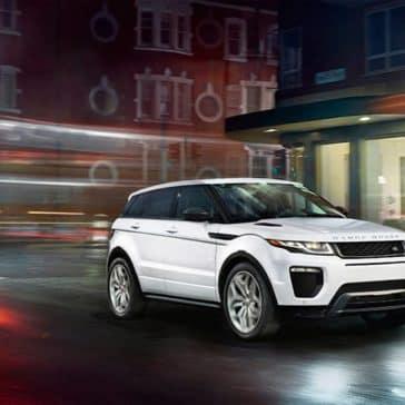 2019 Land Rover Range Rover Evoque Driving Through the City