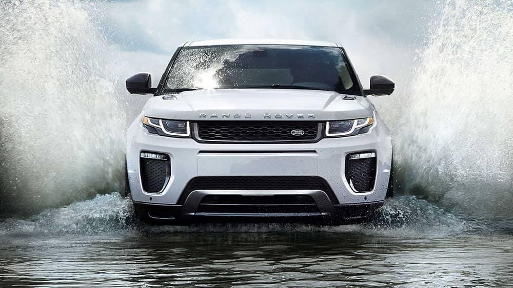 2019 Land Rover Range Rover Evoque Driving Through Water
