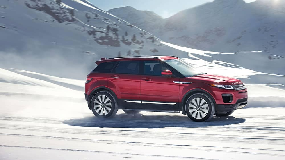2019 Land Rover Range Rover Evoque Off-Roading in Snow