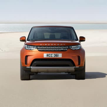 2019 Land Rover Discovery Front End View Parked on Beach
