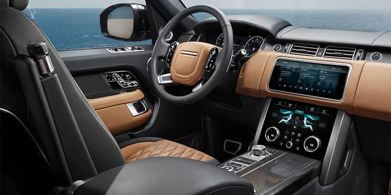 2019 Land Rover Range Rover Interior Seating and Dashboard Features