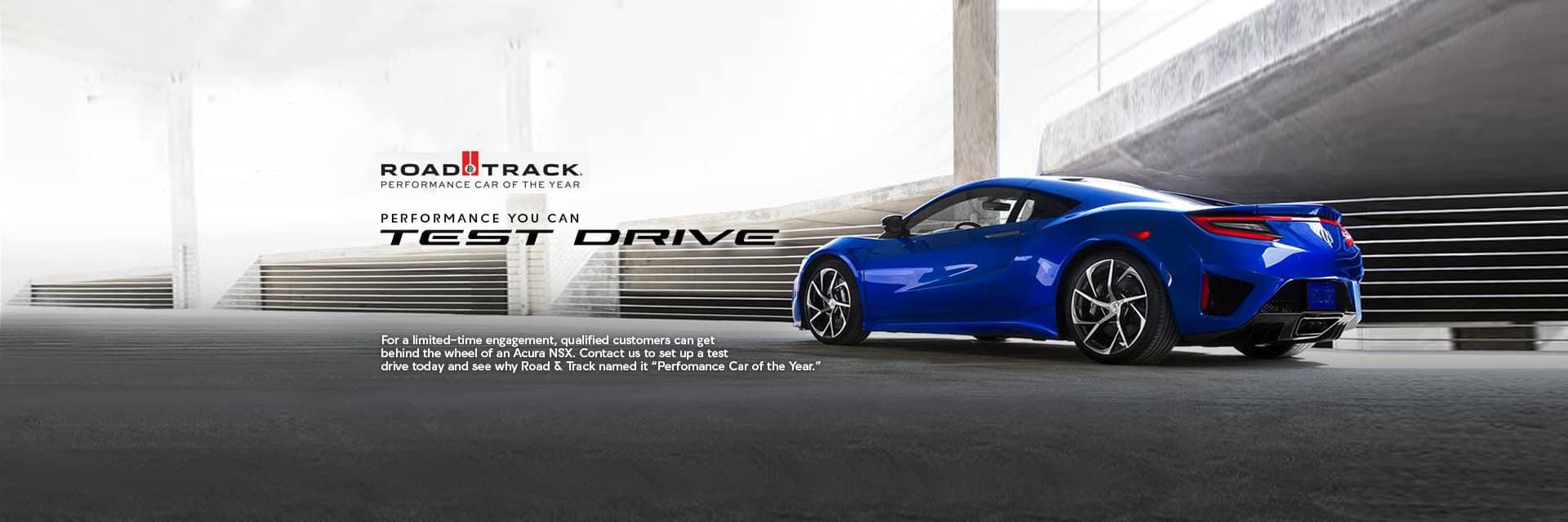 Acura NSX Test Drive