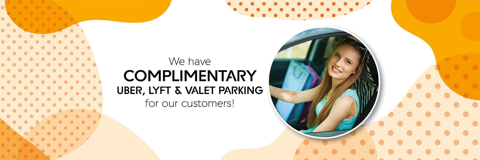 Uber, Lyft, Valet Parking