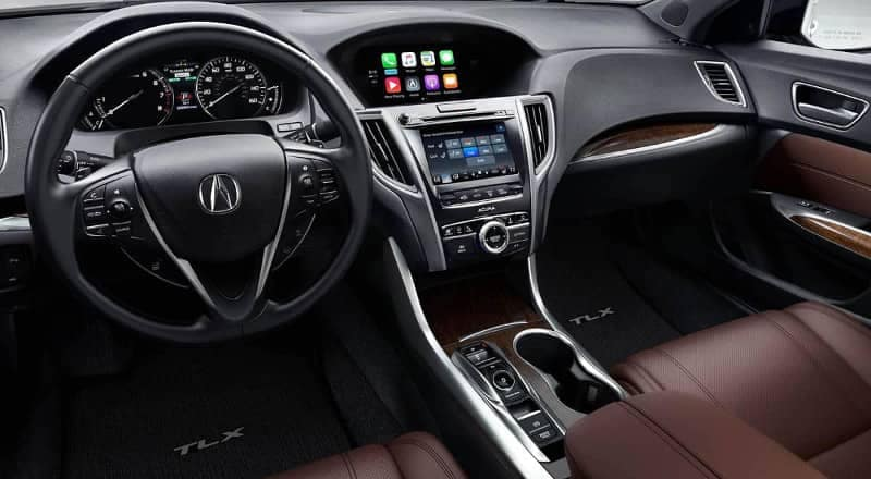 interior dashboard of the 2019 Acura TLX