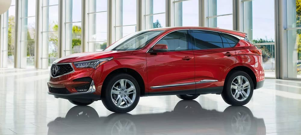 2020 Acura RDX parked in showroom