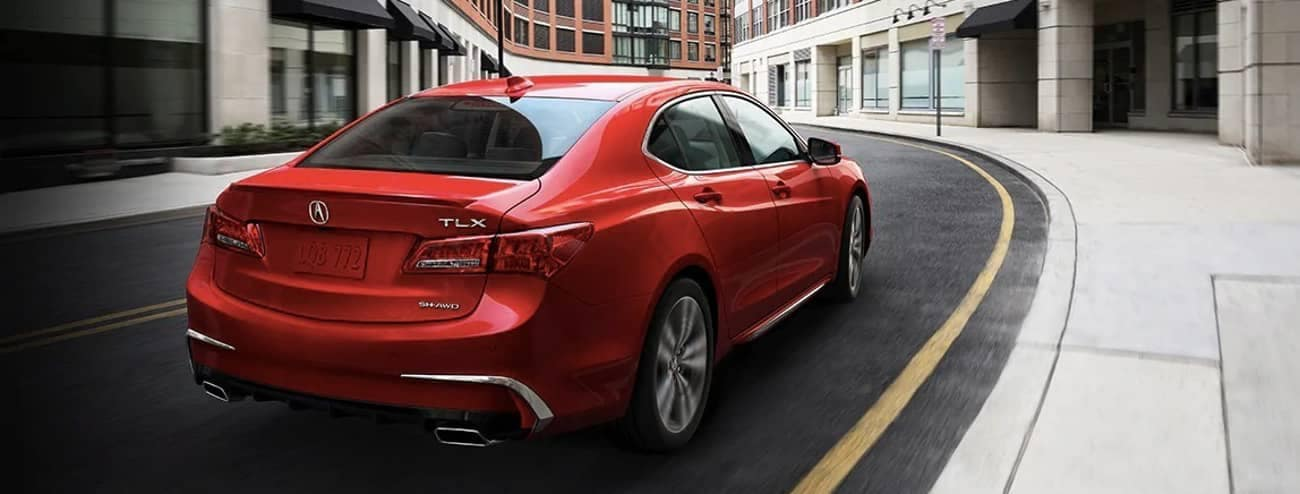 2020 Acura TLX SH-AWD in red