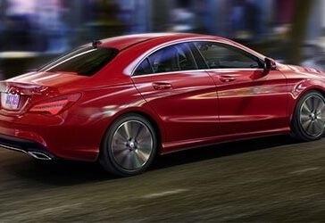 2018 Mercedes-Benz CLA 250 red exterior