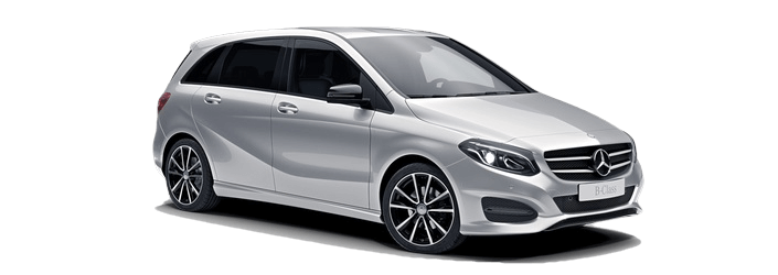 2018 Mercedes-Benz B-Class Sedan white background