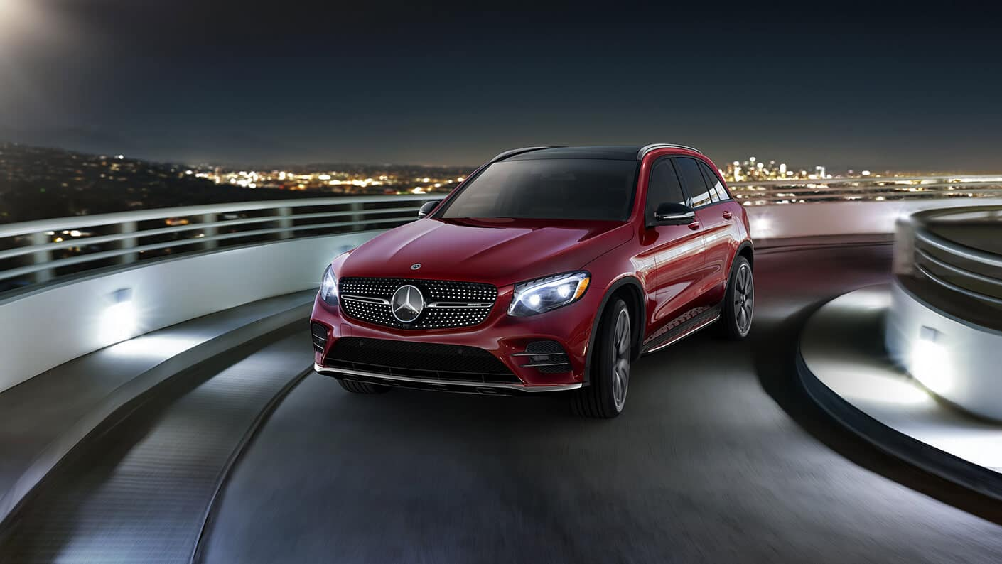 2018 Mercedes-Benz GLC AMG 43 4MATIC driving around a corner