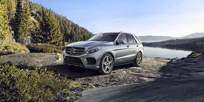 2018 Mercedes-Benz GLE Canada parked at lake with beautiful scenery