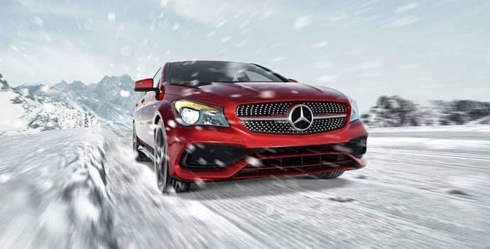 2018 Mercedes-Benz CLA Driving Through Snow CA