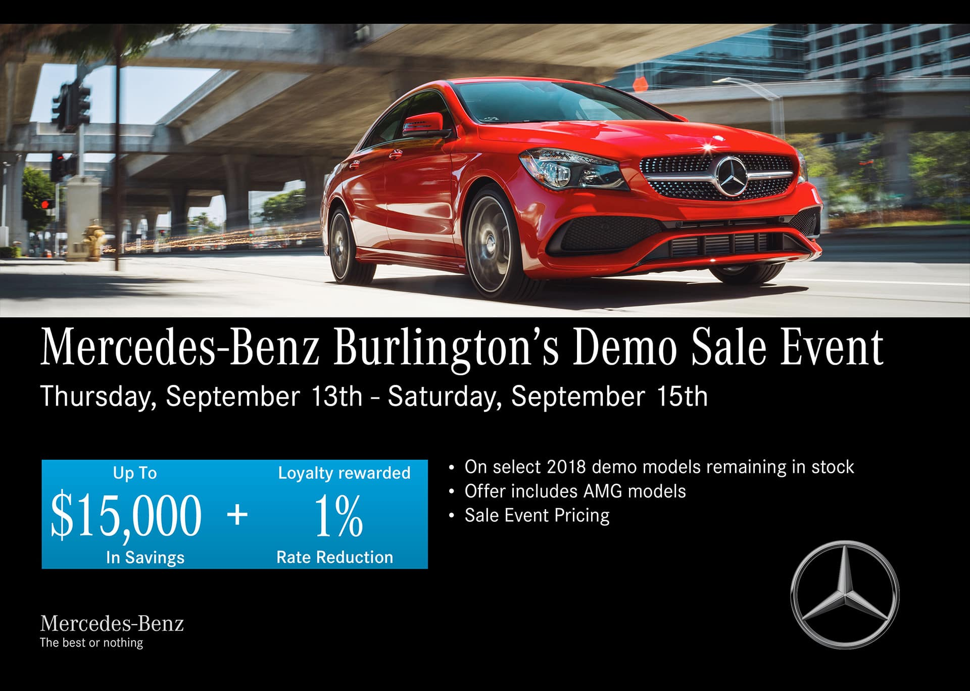 MB Burlington Sales Event