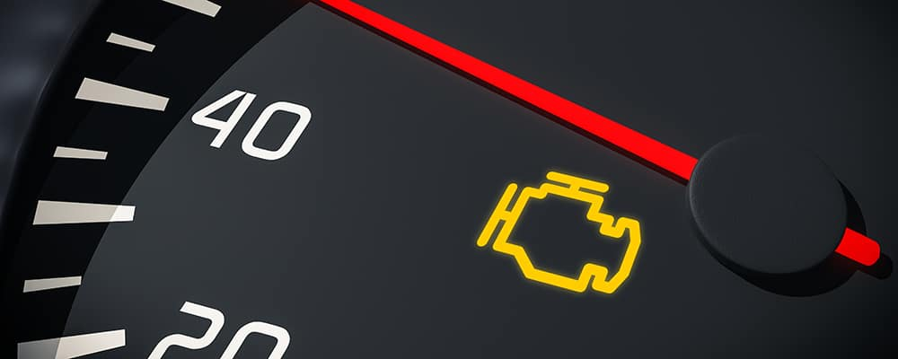 warning light control in car dashboard. 3D rendered illustration. Close up view.