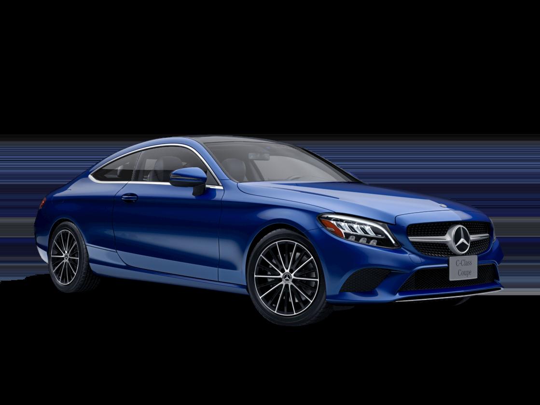 mercedes-benz c-class coupe blue