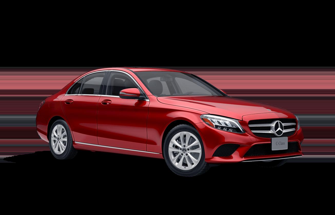 mercedes-benz c-class sedan red