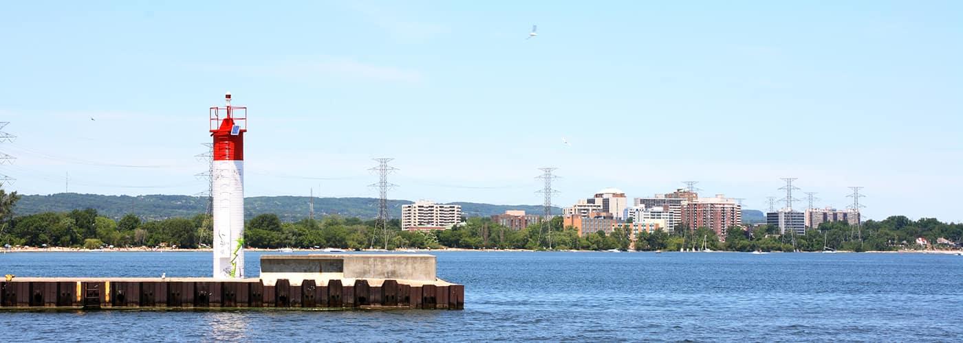 Burlington, Ontario, Canada shoreline