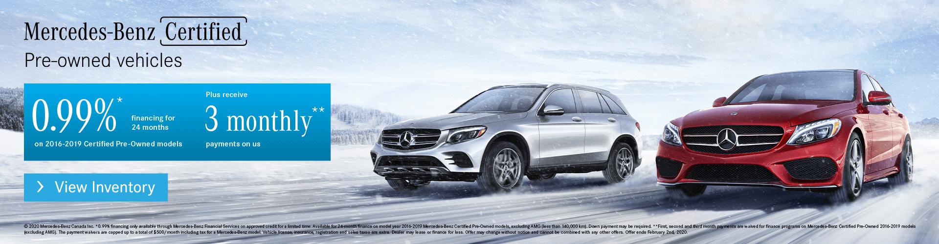 Mercedes-Benz Burlington Certified Pre-Owned Vehicles