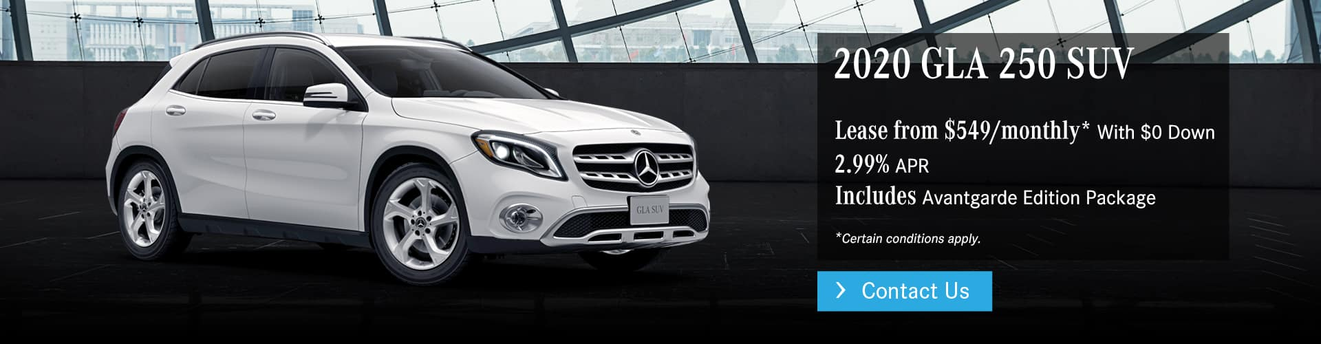 2020 GLA 250 SUV Offer at Mercedes-Benz Burlington