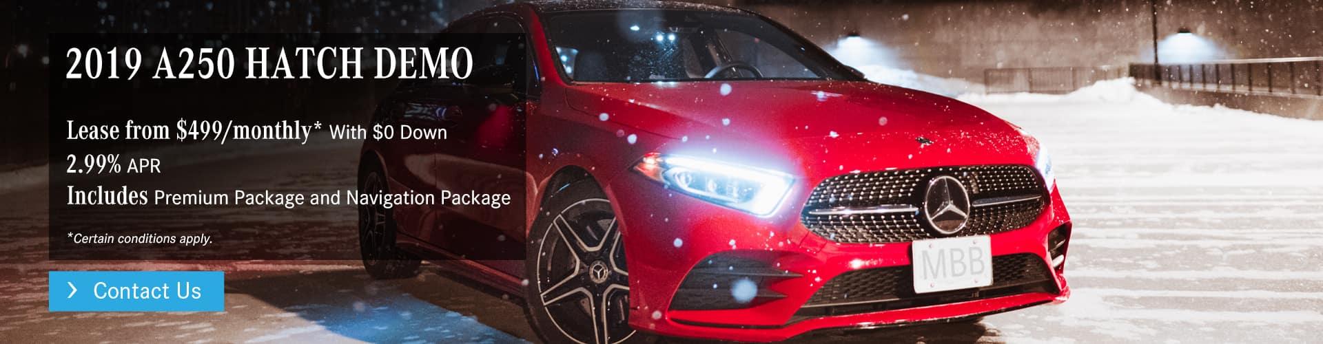 2019 A250 HATCH DEMO Offer at Mercedes-Benz Burlington