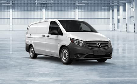 Book a 2019 Metris Cargo Van<br> for delivery next month