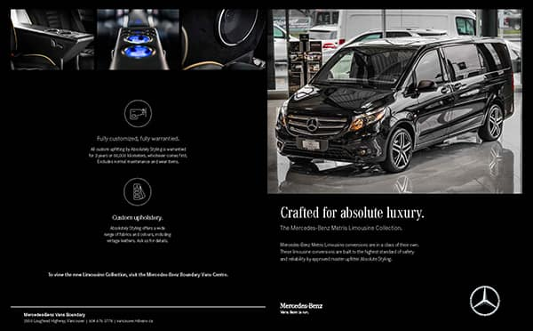 Vans luxury metris and sprinter vans mercedes benz for Mercedes benz north vancouver