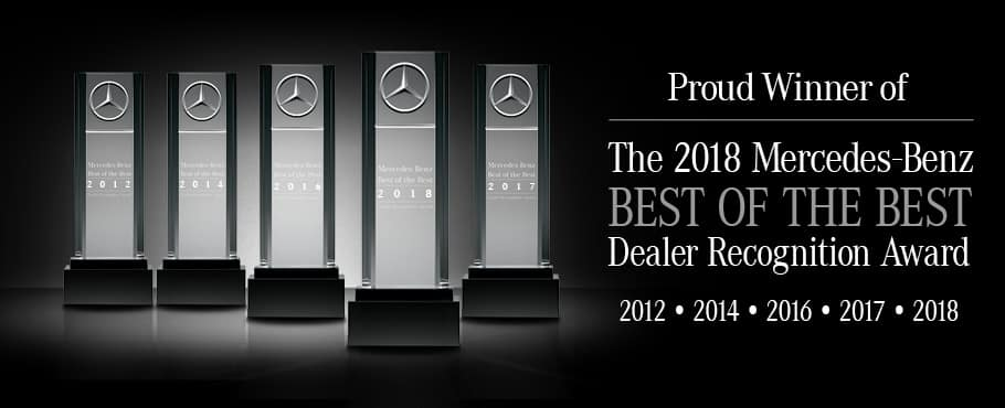 Proud winner of the Mercedes-Benz Best of the Best Dealer Recognition award