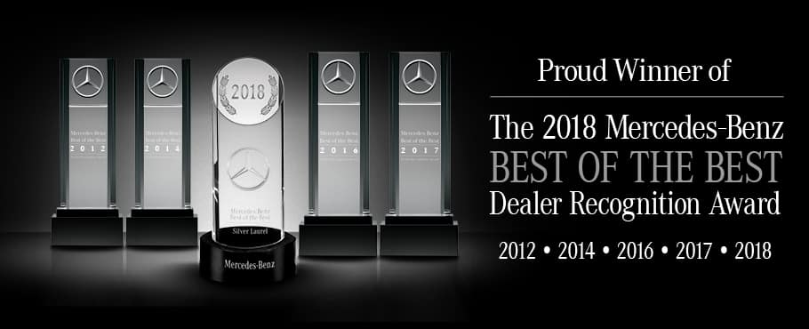 Proud winner of the Mercedes-Benz Best of the Best Dealer Recognition award