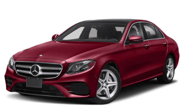 Red Mercedes-Benz E-Class