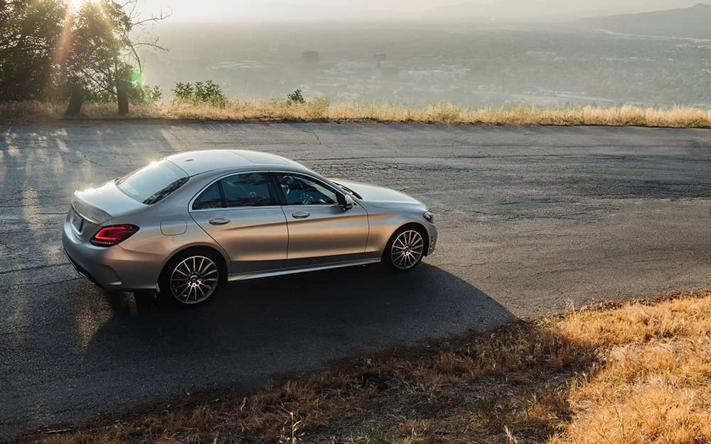 2020 MB C-Class On a Hill