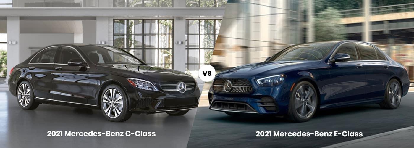 Mercedes-Benz C-Class vs. E-Class