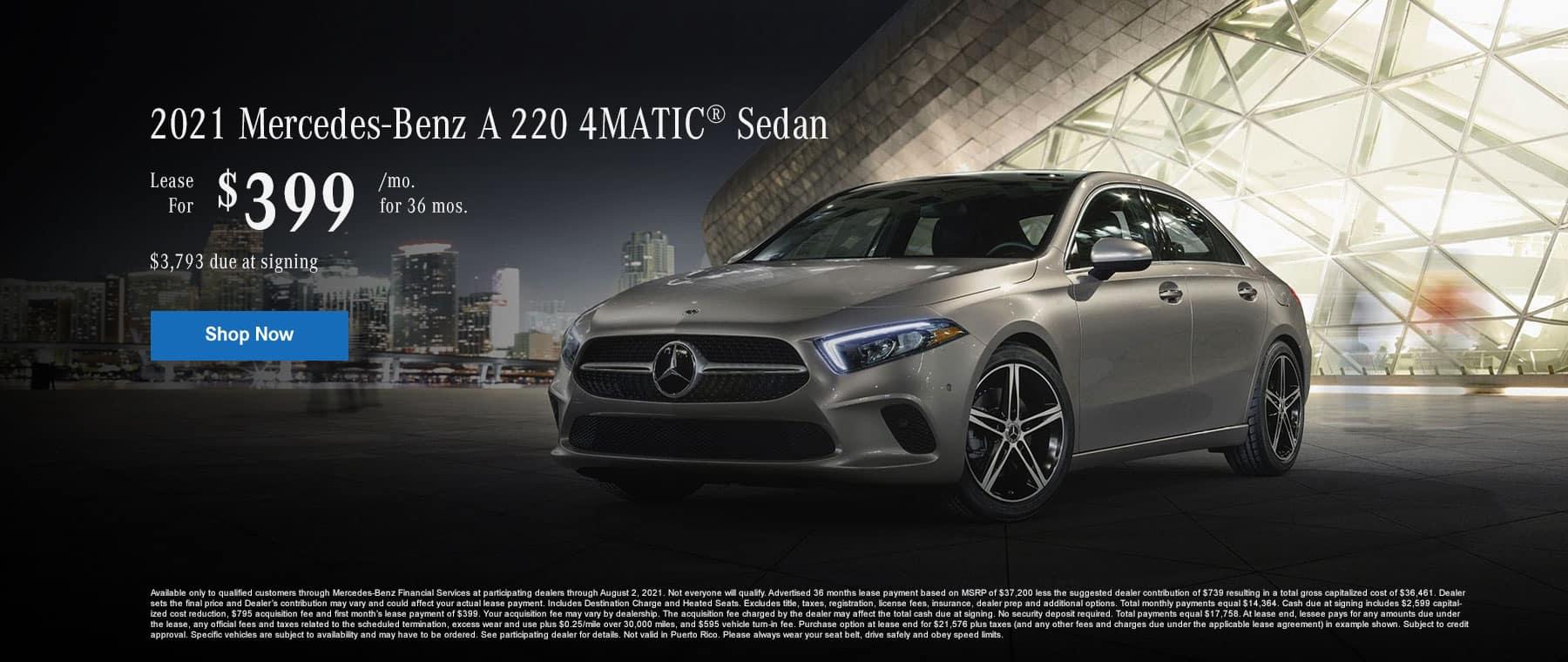2021 Mercedes-Benz A 220 4MATIC® Sedan