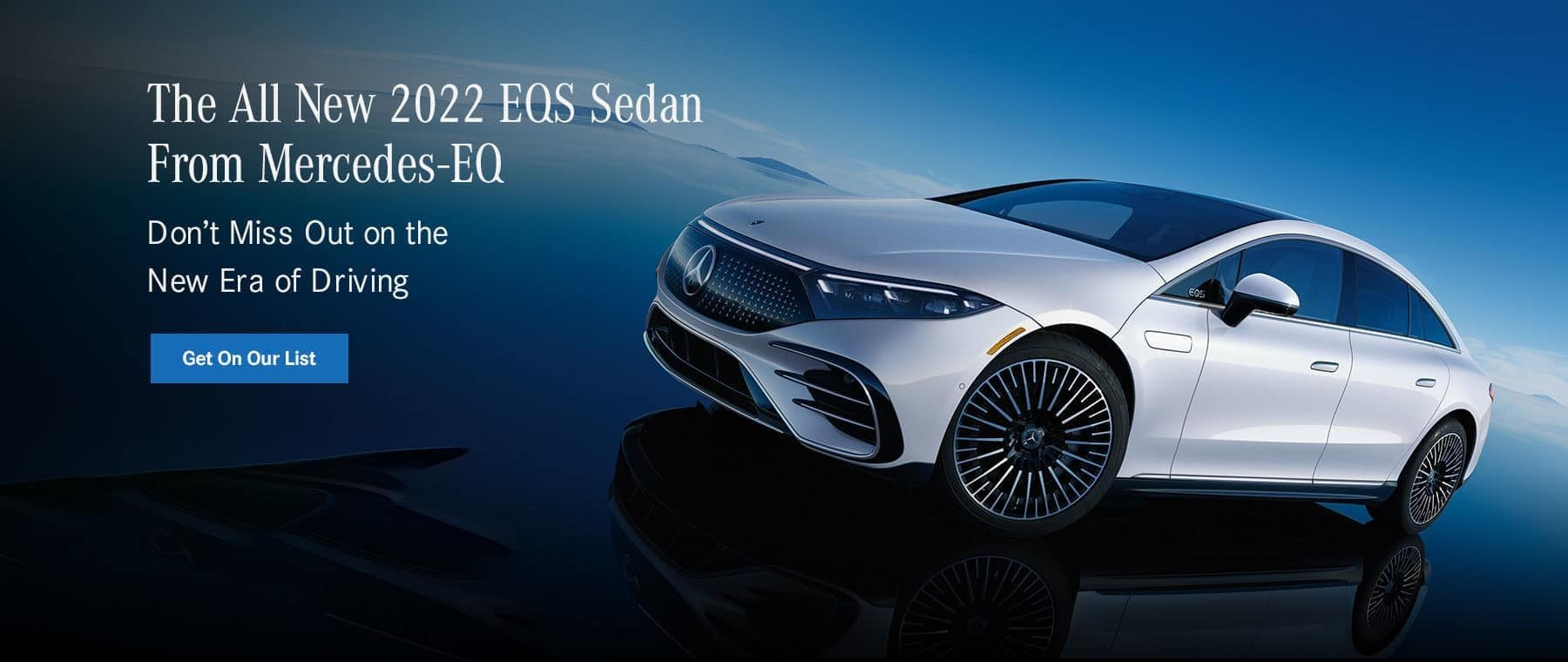 The all-new 2022 EQS Sedan from MB-EQ - Get On Our List