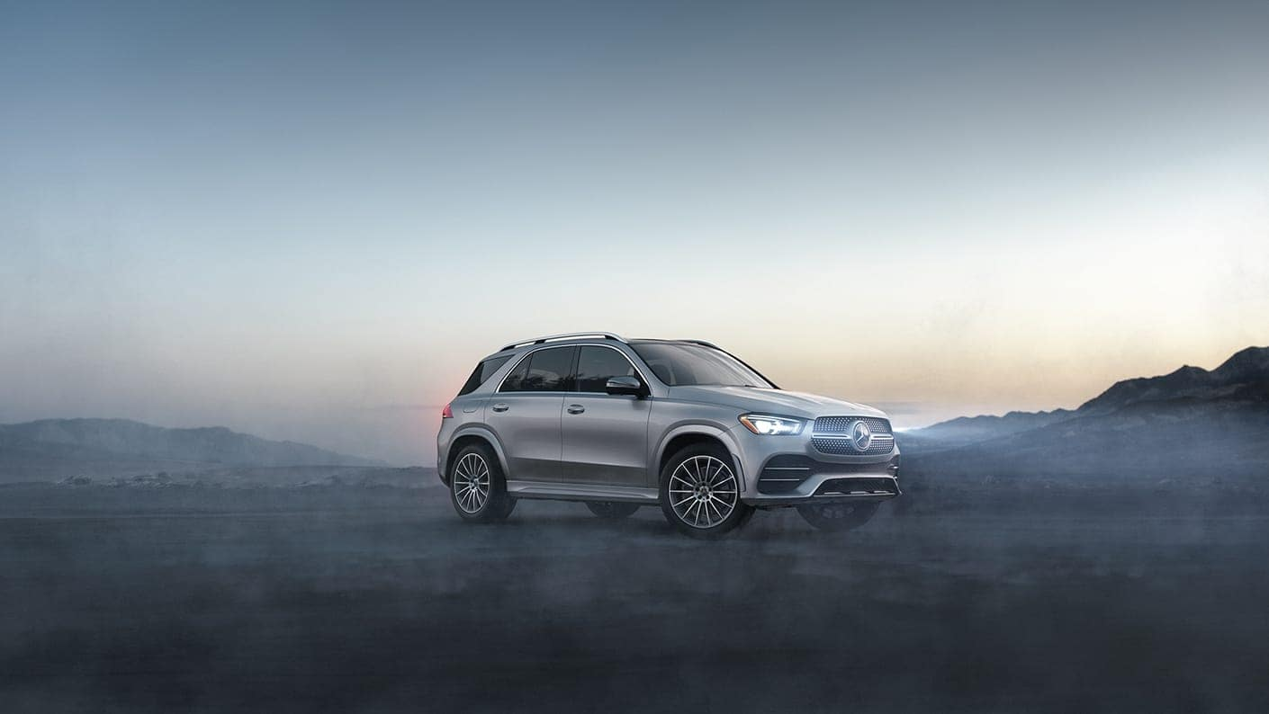 2020 Mercedes-Benz GLE in fog