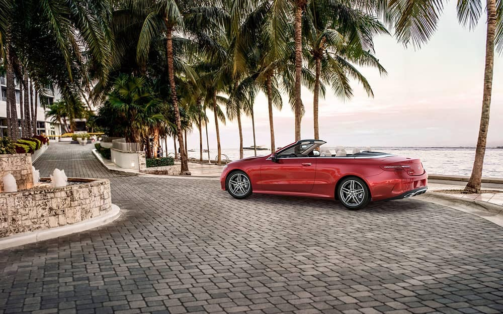 2020 MB E-Class Cabriolet Near The Ocean