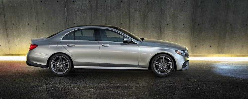 Silver 2019 E-Class parked