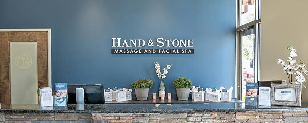 Hand and Stone Spa front counter