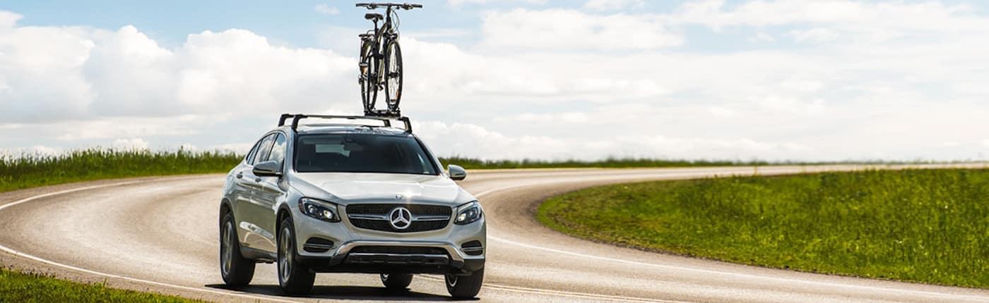 Mercedes-Benz GLE w/ Bike Rack and Bike Attached
