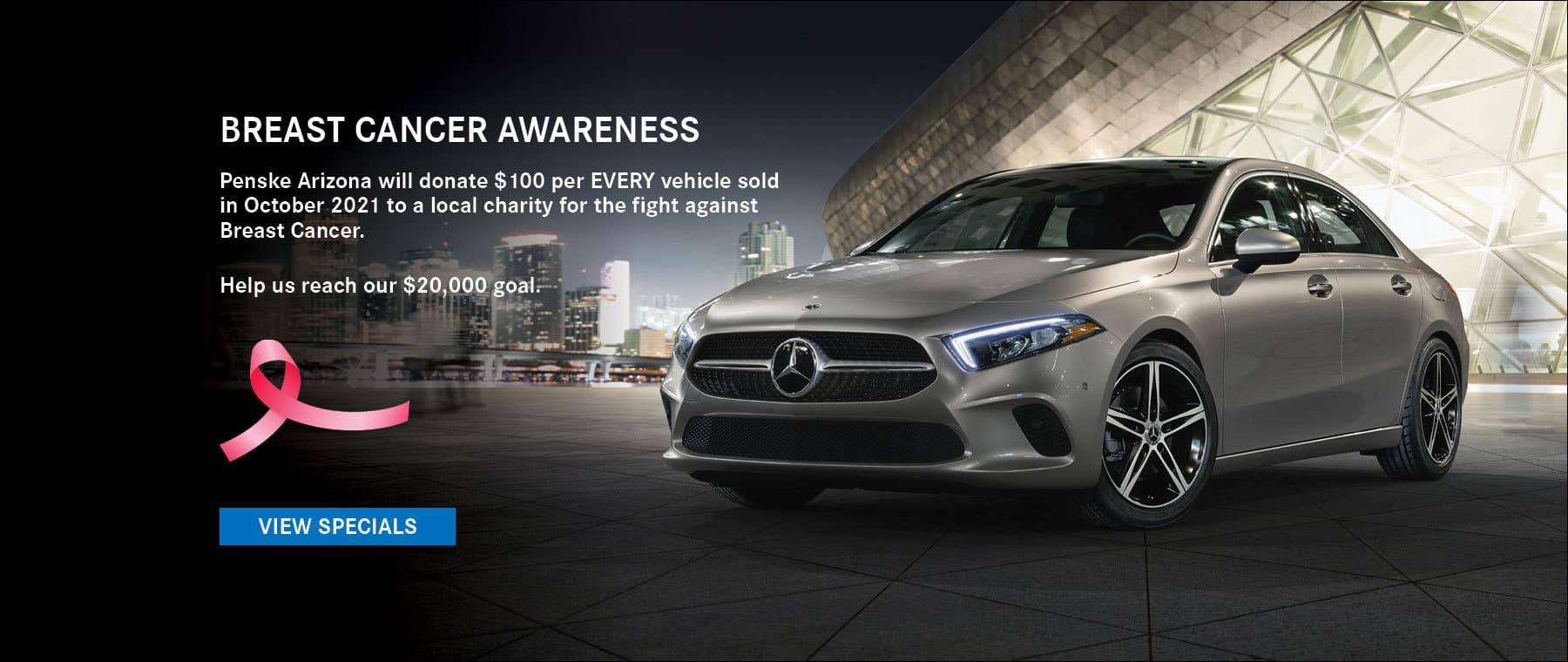 Penske AZ will donate $100 per every vehicle sold in October 2021 to a local charity for the fight against breast cancer. Help us reach our $20,000 goal!