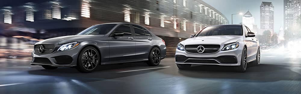 Mercedes-Benz C-Class AMG Models Driving in the City