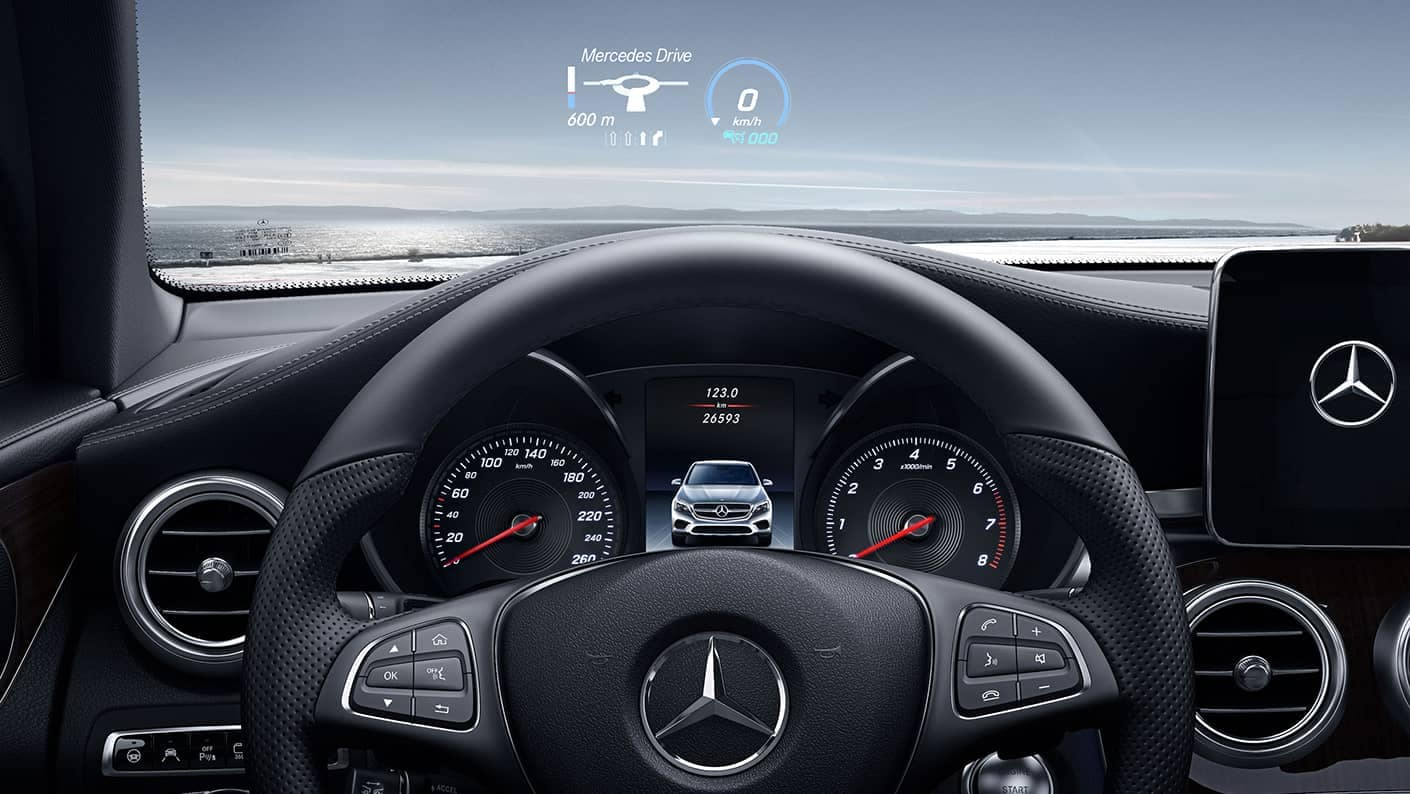 2019 Mercedes-Benz GLC coupe front interior features
