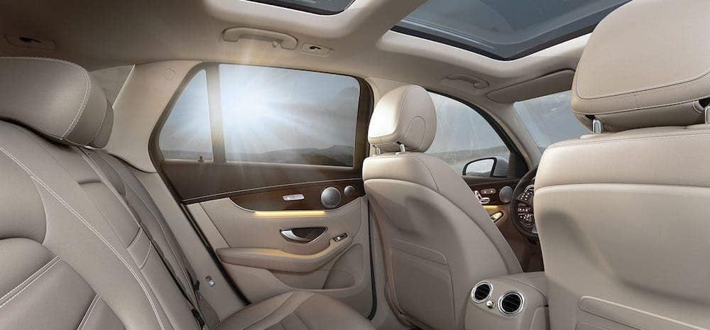 2019 mercedes-benz glc rear interior